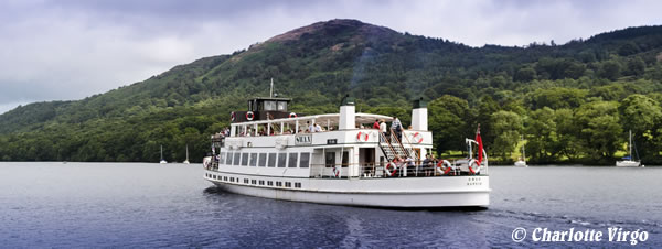 Lake District Steamer on Lake Windermere